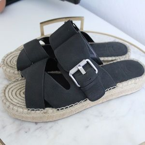 Marc Fisher espadrille sandals with buckle